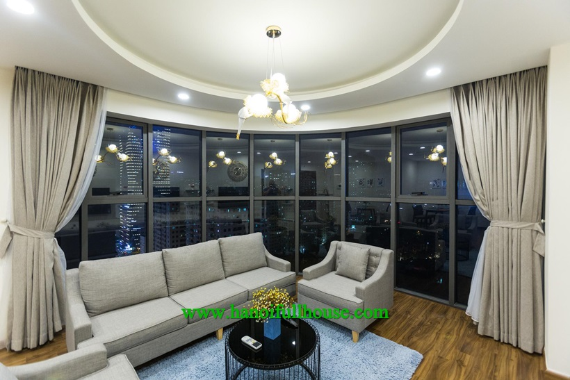 High-end apartment with full furniture in Golden Palm for rent