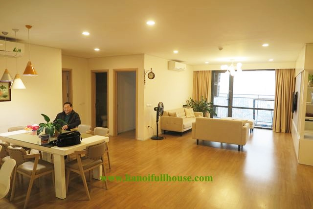 Mipec Long Bien: European style apartment with 3 bedrooms for rent