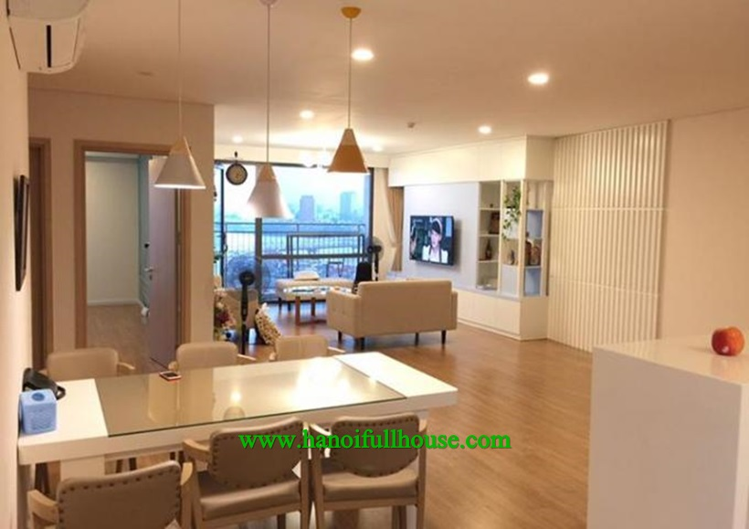 3-bed apartment for rent in Mipec Riverside, Long Bien Dist,Hanoi in charming decoration