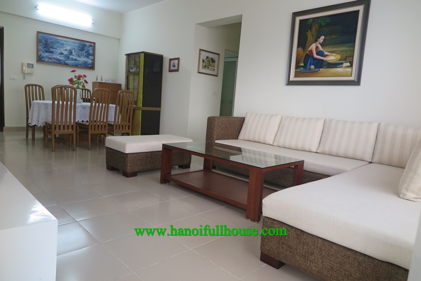 3 bedroom apartment, good view, full furniture for rent in 172 Ngoc Khanh Building