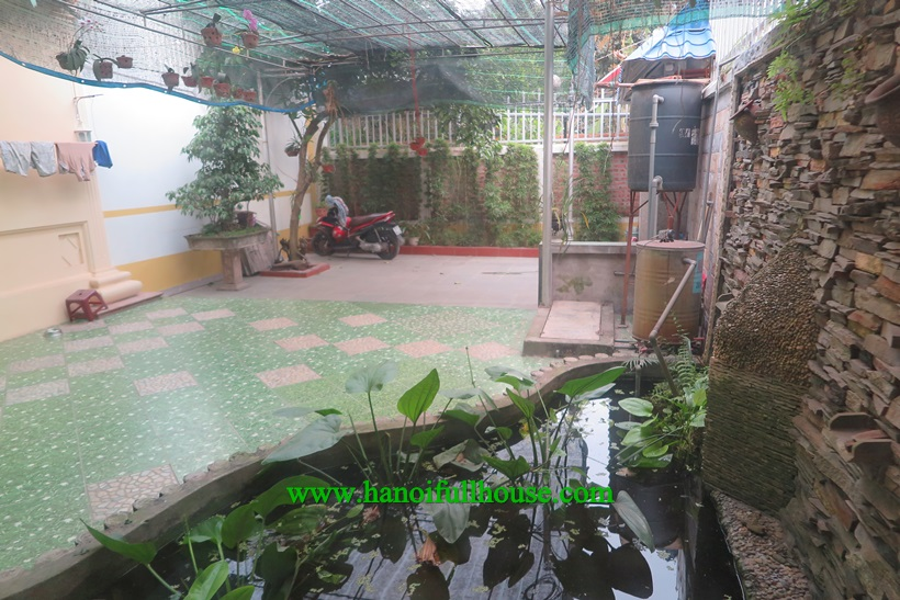 House full of light, big garden in Ngoc Thuy, Long Bien dist for rent