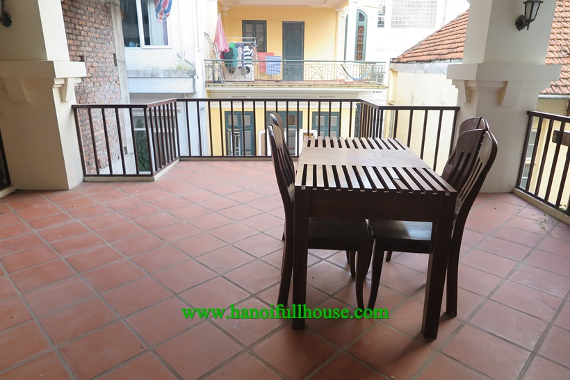 For rent a house with 3 bedrooms,, large balcony and terrace in Tu Hoa, Tay Ho