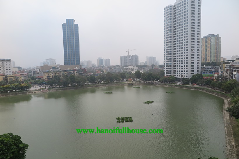 Spacious 2 bedroom apartment ,overlooking Ngoc Khanh lake for rent