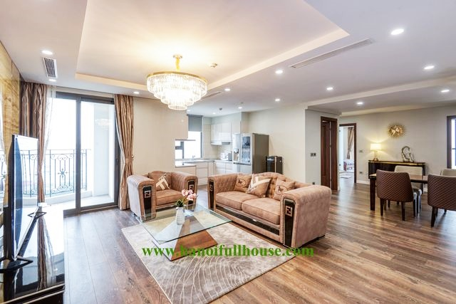 HDI apartment building - 55 Le Dai Hanh for rent, 3 bedrooms, luxurious.