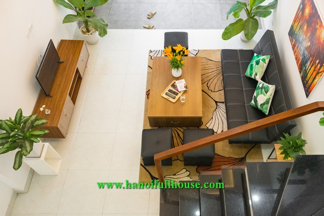 Nice house on An Duong Vuong street has 6 bedrooms, fully furniture and equippment for rent.