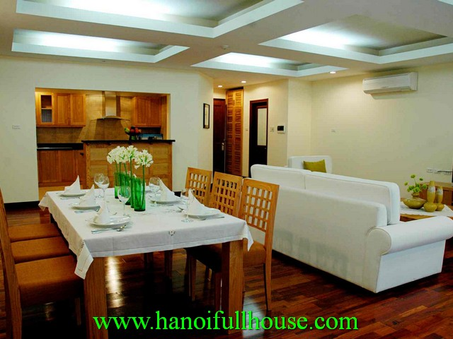 Beautiful serviced apartment with 2 bedrooms for rent at Elegant suite building, in Hoan Kiem dist, Hanoi, Vietnam