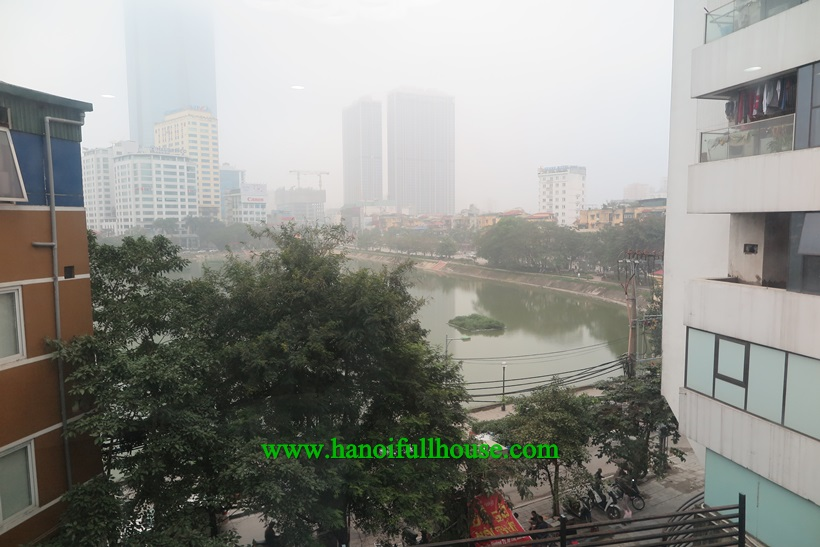 Perfect lake serviced apartment in Ba Dinh district for rent
