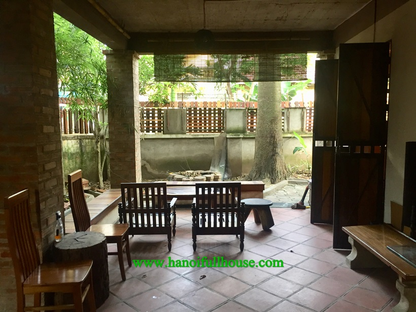 Garden house with French style, full furnished for rent in Long Bien near French school
