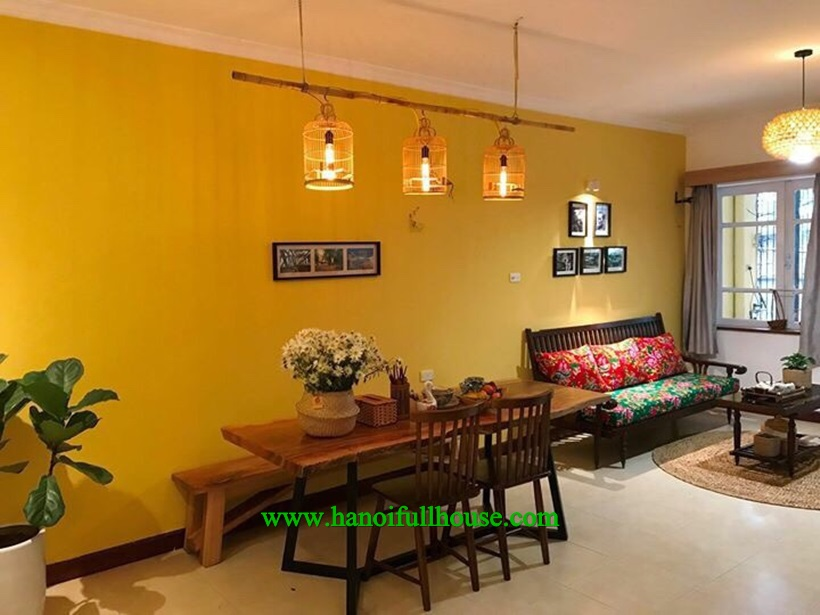 Furnished apartment is available in Ha Noi center