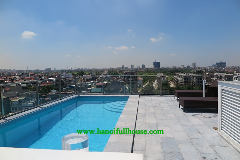 Super duplex apartment with swimming-pool for rent in Long Bien, close to French school