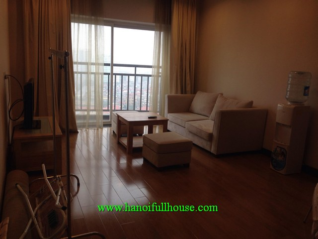 Japanese style two-bedroom apartment in Hoa Binh Green building, Ba Dinh dist for lease