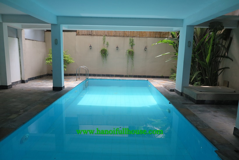 Villa for lease with swimming pool, big garden,spacious and bright in Tay Ho