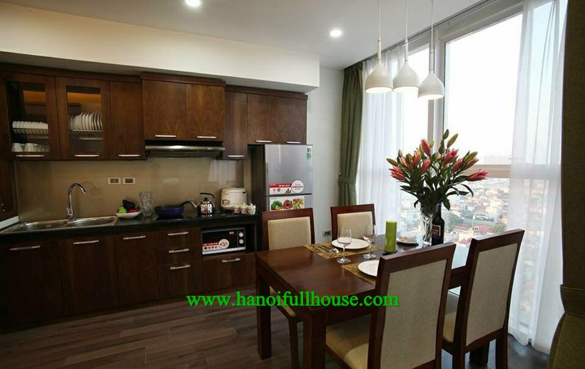 1-bedroom apartment offers nice quality furnishing with bathtub in Dong Da dist