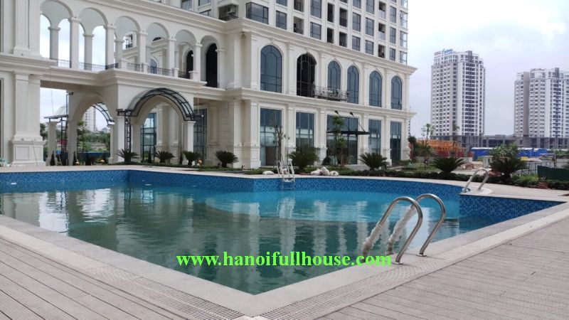 High-class 3-bedroom apartment on high floor in Sunshine Riverside Tay Ho, Hanoi.