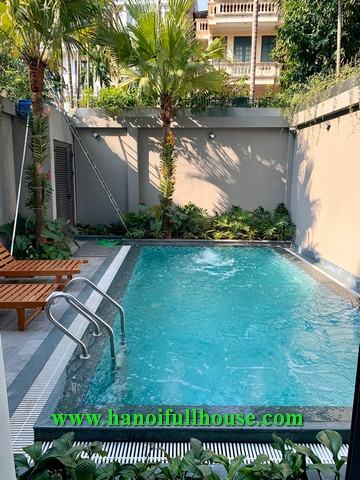 Impressive 2-bedroom apartment on Dang Thai Mai street, swimming pool, nice terrace for rent.
