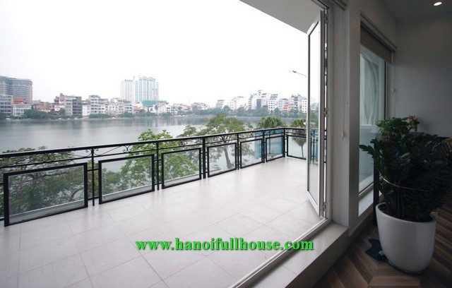 Nice apartment with super large balcony facing West Lake for rent.