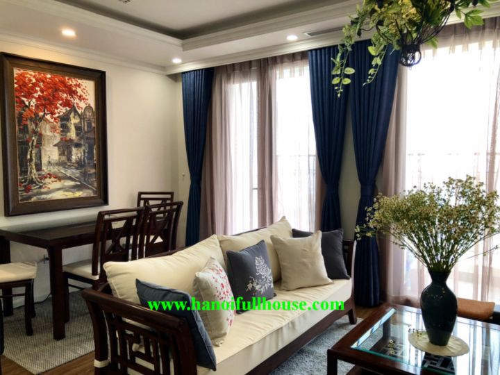 Luxurious 1 bedroom apartment in Hai Ba Trung district for rent - Sunshine Garden Minh Khai.