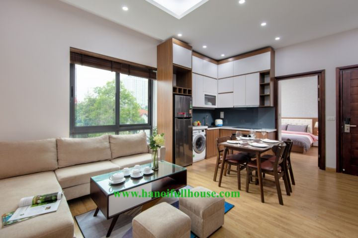Modern 2 bedrooms, 2 bathrooms apartment in Tay Ho for rent  with green view