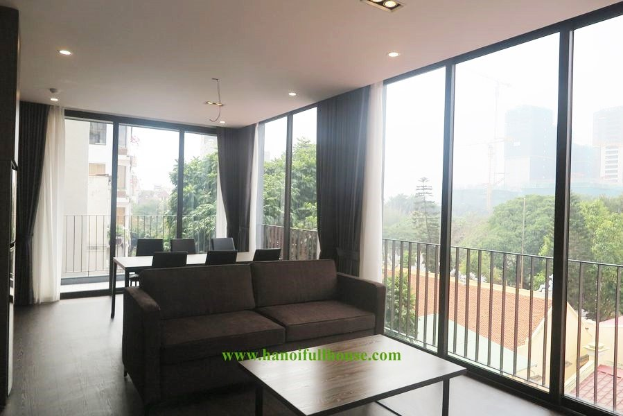 Bright and new apartment in To Ngoc Van street for rent, 2 bedrooms, 2 bathrooms with bathtub